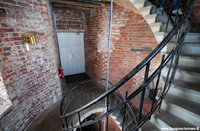 The entrance in the lighthouse tower into the lighthouse building