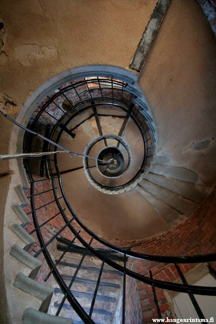 The spiral stairs of the lighthouse tower