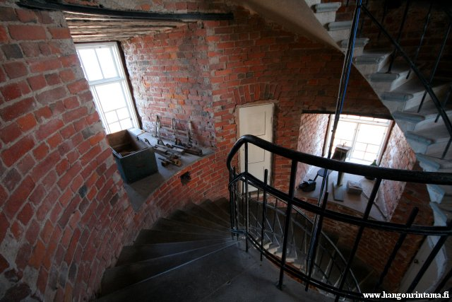 The interiors of the lighthouse tower